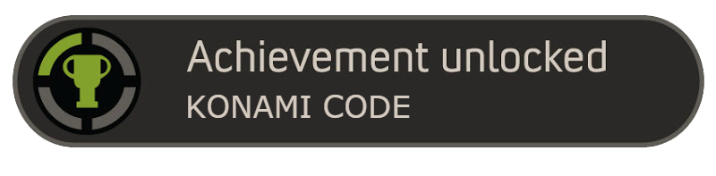 Konami Code Achievement